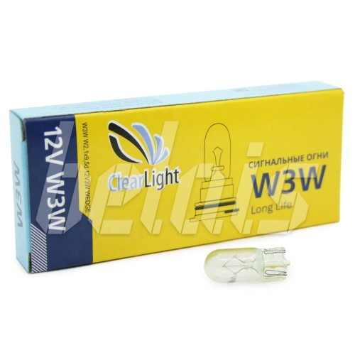 Лампа накаливания «ClearLight» W3W (12V, T10)